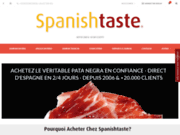 screenshot http://www.spanishtaste.fr jambon pata negra