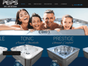 screenshot http://www.spapeips.fr peips le spa: fabrication, vente et installation