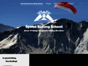 screenshot http://www.speedriding-school.com le site de l'école de speedriding des arcs