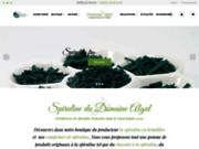 screenshot http://www.spirulinealaferme.com spiruline du gard