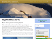 screenshot http://www.stages-mont-blanc.fr stages mont blanc avec des guides
