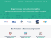 screenshot https://start-learning.fr/ La formation continue des agents immobiliers