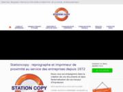 screenshot http://www.stationcopy-clichy.com impression nb et couleur - mise sous plis / mailing