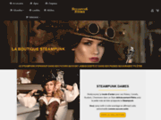 screenshot https://steampunkstore.fr Boutique Steampunk