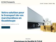 screenshot https://strm-transports.com/ Entreprise de transports de marchandises en Guadeloupe
