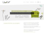 screenshot http://www.studio-utopik.fr studio utopik' graphisme, edition, publicité