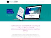 screenshot http://www.studioanney.com studio anney : agence et studio de communication de création graphique logo, site internet, édition, film vidéo, illustration