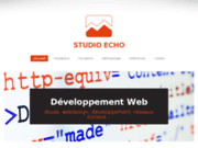 screenshot http://www.studioecho.fr studio echo, développement web professionnel
