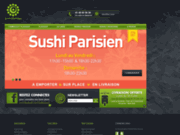 screenshot http://sushi-parisien.fr sushi parisien - livraison écologique de sushi