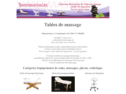 screenshot http://www.swissmassages.ch table de massage, table de massage, chaise de mass