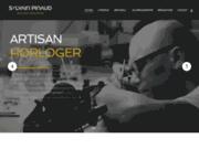 screenshot https://www.sylvain-pinaud.com/ Artisan horloger suisse