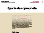 screenshot http://www.syndics-copropriete.com/ syndic de copropriété