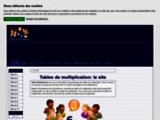 screenshot http://www.tables-multiplication.com Les tables de multiplication