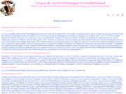 screenshot http://www.tarotcours.com cours de tarot initiatique et traditionnel