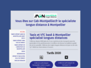 screenshot http://www.taxi-montpellier.org Taxi longues distances Montpellier
