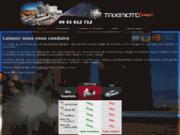 screenshot http://www.taximotoline.fr Taxi Moto Paris 75/ Orly /Roissy. Toutes distances CB et AMEX acceptées