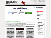 screenshot http://telephonie.sanjb.net liste de n° non surtaxés
