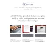 Acservices 06 08 83 78 51 Secrétariat et création de sites web
