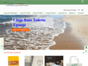 screenshot http://tendre-calin.com linge de maison