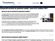 screenshot http://www.terminauxpaiement.fr terminal mobile de paiement