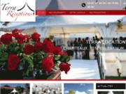 screenshot http://www.terra-location-mariage-34.com/ location de tentes de réception dans l'hérault 34