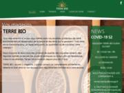 screenshot http://www.terre-bio.com terre bio, alimentation bio