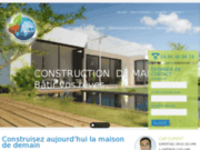 screenshot http://www.terreabatir.com/ construction de maison bioclimatique passive