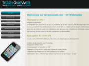 screenshot http://www.terryoneweb.com terryoneweb.com cv webmaster / webdesigner / intég