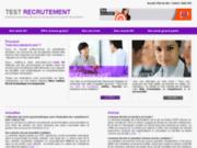 Tests de recrutement - Bilan de compétences