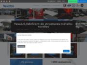 screenshot http://www.texabri.com/ texabri - abris modulables en toile tendue