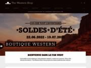 screenshot https://the-western-shop.com Vêtements et décorations de western