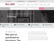 screenshot http://www.theurbansuites.com/fr/ appartements à barcelone