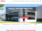screenshot https://www.thibaultbatimentindustriel.fr/ Thibault Bâtiment Industriel