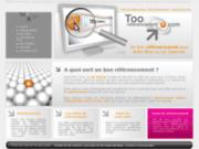 screenshot http://www.too-referencement.com agence conseil en référencement à paris