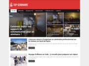 screenshot http://www.top-seminaire.com salles de réunion et hôtels pour séminaires
