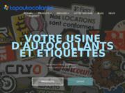 screenshot http://www.topautocollants.com topautocollants : adhésifs et objets publicitaires