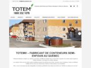 screenshot http://www.totemconteneurs.com Conteneurs semi-enfouis
