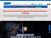 screenshot http://www.toutadomservices.com/ franchise d'aide à domicile tout à dom