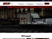 screenshot https://www.tpr-transport.com déménagement Paris Londres