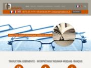screenshot http://www.traducris.fr Traducteur franco-roumain