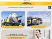 Transport routier de matériaux au nord de la France
