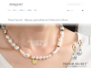 screenshot http://www.tresorsecret.fr bijoux trésor secret - site institutionnel de la marque. perle de culture