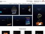screenshot http://www.tryje-trophee.com/shop/ trophées verre et plexiglass pour les entreprises