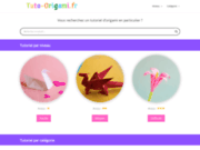 screenshot https://tuto-origami.fr/ Tutoriel d'origami