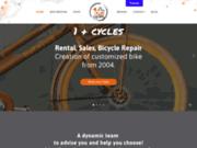 screenshot http://www.un-plus-cycles-17.com location de vélos