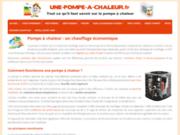 UnePompeAChaleur, site spécialisé sur la pompe à chaleur