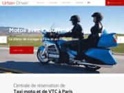 screenshot http://www.urban-driver.com urban driver, service de moto taxi à paris