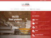 screenshot http://www.valfer.fr valfer - agent officiel de gutser, reca et filinox en france