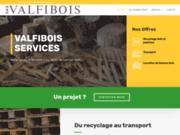 screenshot http://www.valfibois.com recyclage et collecte de bois