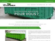 screenshot http://www.vdconteneur.be/ location de containers